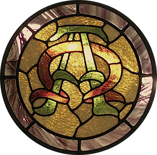 Alpha Omega Stained Glass Window