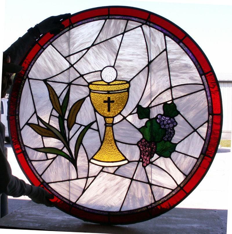 Communion srtained glass