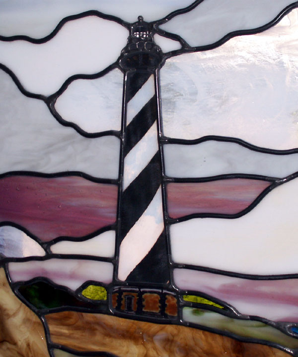 Hatteras Light         House Detail of Stained Glass