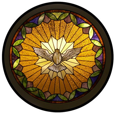 "dove                       stained glass ""Holy Spirit"""