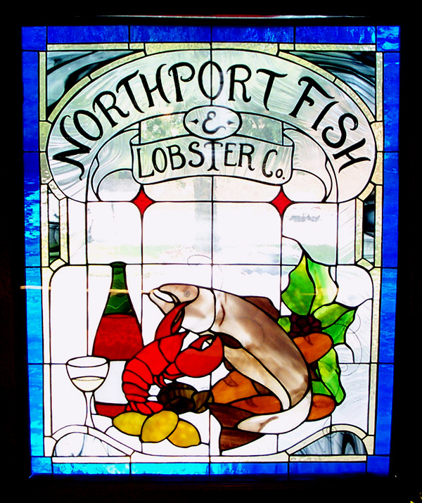 Lobster Stained Glass window