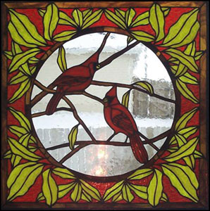 Autumn Splendor Stained Glass Cardinal Quilt Pattern | eBay