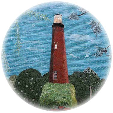 Unique & original, ..that's us! | Lighthouse Stained Glass Pattern