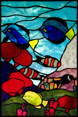 Stained glass patterns for free - fish stained glass patterns 225