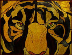 tiger stained glass