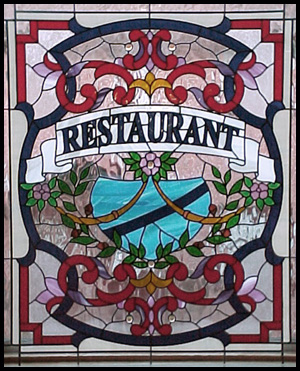 stained glass restuarant