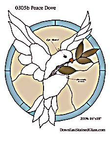 Peace Dove Stained Glass Pattern