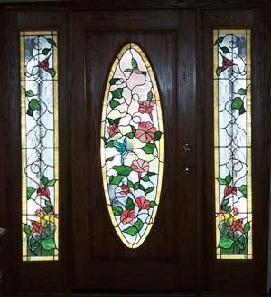 Hummingbird Stained Gl Door
